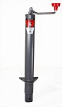 Bulldog Round, A-Frame Trailer Jack - Topwind - 15 in Lift - 2,000 lb #155033