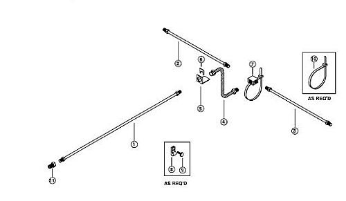 15 u0026 39  stainless steel  ss   single axle hydraulic brake line kit