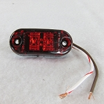 LED Side Marker/Clearance Light, Red, Oval #200-4400-1