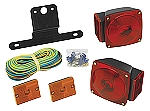 WESBAR Trailer Light Kit with 25 ft Wire Harness Rectangular Side Marker Lights 2823285