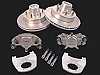 KODIAK 12 in Trailer Disc Brake Assy, (Complete 1 Axle Kit) Stainless Steel Calipers with DAC Hub, Rotor & Bracket 2/H-12-DSD-K