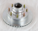 UFP DB-42 8 Lug Hub/Rotor Assembly H1750-85, 8 on 6-1/2 in, Zinc Plated