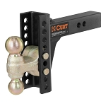 Curt Channel Style Adjustable Ballmount - 2 in & 2-5/16 in Hitch Balls - 14,000 lb Capacity #45900