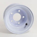 8x5.375 OEM Trailer Wheel, White Painted Steel, 5x4.50 Lug 900 lb Max Load
