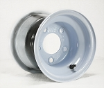 8x7 Solid White Steel Trailer Wheel 5x4.5 Bolt, 900 lb Max Capacity