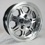 13 x 5 SAWTOOTH 870 Aluminum Trailer Wheel 5 on 4.50 Lug, 1,660 lb Load Capacity w/ Center Cap