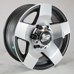 13 x 4.5 Phat Star Aluminum Trailer Wheel, 5 on 4.50 with Center Cap, 1,660 lb Load Capacity