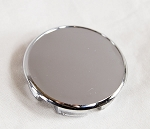 Chrome Replacement Cap for EZ Lube Open End Plus Plug Center Caps 2.5 inch