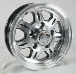 12 x 4 SAWTOOTH 870 Aluminum Trailer Wheel 5x4.50 Lug, 1,520 lb Load Capacity