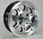 12 x 4 SAWTOOTH Aluminum Trailer Wheel 4 on 4 Lug, 1,220 lb Load Capacity