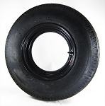 14.5X6 Mobile Home Rim, Black Steel w/ 8.00-14.5 Mobile Track 28 in LR G Mobile Home Tire