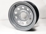 16 x 6 Steel Modular Trailer Wheel, Gray, 6x5.50,  3140 lb Max Load