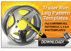 Trailer Wheel Bolt Pattern Template