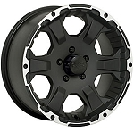 15 x 6 Black Rock 910B Intruder Aluminum Trailer Wheel 5 on 4.50