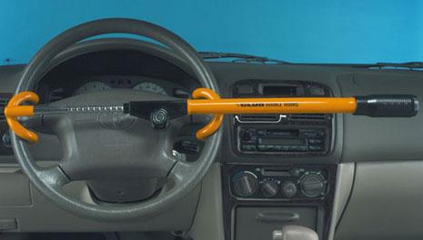 The Club 3000 Twin Hooks Steering Wheel Lock Yellow