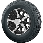 14 inch Dark Force Trailer Wheel and 205/75R14 Radial Trailer Tire
