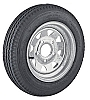 12 inch Galvanized Steel Spoke Trailer Wheel 5 X 4.5 and Radial Tire Assembly