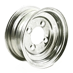 8 x 3.75 Galvanized Trailer Wheel 4 on 4 Lug, 1,075 lb Load Capacity