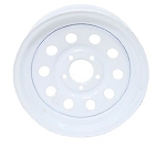 12 x 4 White Painted Modular Trailer Wheel 5 on 4.50 NO PIN STRIPE
