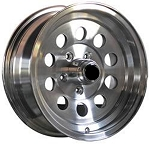 15 x 6 Aluminum HiSpec 03 Modular Trailer Wheel 5 x4.50 Bolt Pattern 2,150 lb Capacity