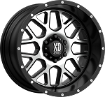 17 x 8.5 Satin Black Machined Face, Aluminum Grenade Trailer Wheel, 5 on 4.50, 2500 lb Max Load