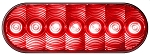 LumenX® M821R-7 Red Grommet Mount Oval LED Stop, Turn & Tail Light, PL3