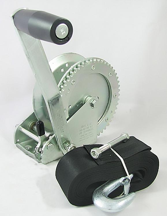 FULTON 1800 lb Capacity Single Speed Winch w//20 Strap 142305
