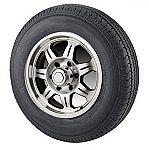 ST21575R14 in LRC Tire with Aluminum SAWTOOTH 5x4.50 Trailer Wheel and 215/75R14