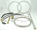 15' Stainless Steel (SS), Tandem Axle Hydraulic Drum Brake Line Kit