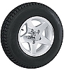 12 x 4 Aluminum Star Trailer Wheel 5 Lug w/ 5.30-12 Bias Ply Trailer Tire LR D