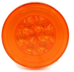 GloLight 4 in Round Amber Trailer LED Stop, Turn, Tail Light, Submersible, 21 Diodes #STL101AB