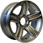 16 x 6 T09 Trailer Rim Silver Machined, 8x6.50 Lug Pattern 3,750 lb Capacity