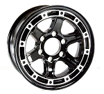 16x6 T11 Sendel Aluminum Trailer Wheel, 6 on 5.50 Lug, 3,200 lb Capacity