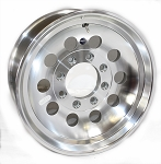 16 x 7 Aluminum Mod Trailer Wheel 8x6.50 Bolt Pattern, 3,960 lb Capacity HD, 12 Hole (Heavy Duty)