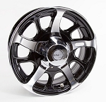 14 x 5.5 Hi Spec Dark Force Aluminum Trailer Rim 5x4.50 Bolt Pattern
