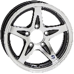 14x5 Hispec Series 14 Black Aluminum Trailer Wheel 5x4.5