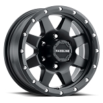 15x5 Defender 935 Matte Black Aluminum Trailer Wheel 5x4.50 with Center Cap