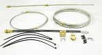 15' Stainless Steel (SS), Single Axle Hydraulic Brake Line Kit