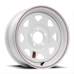 14x6 White Painted Steel Spoke Trailer Wheel 5x4.50 2046012-33171