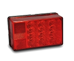 8-Function Taillight, Left/Roadside Waterproof, LED Waterproof 4X6 Low Profile