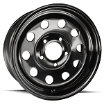15x5 Black Steel Modular Trailer Wheel 5x4.5 Lug, 1870 lb Load Capacity