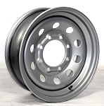16x6 Silver Modular Steel Trailer Wheel 8x6.5 4,080 Lb Capacity