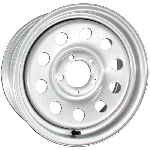 15x6 Silver Steel Modular Trailer Wheel 5x4.5 Bolt