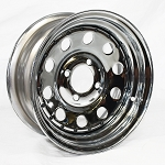13 x 5.5 Chrome Modular Trailer Wheel 4 Lug, 1,100 lb Load Capacity