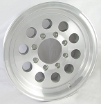 16 x 7 Aluminum Mod Hi Spec Trailer Wheel, 8x6.50 Bolt Pattern, 3,200 lb Capacity 0367865