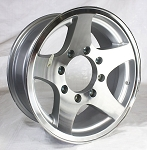 16x6 Series04 Aluminum Star HD HiSpec Trailer Wheel 8 on 6.5 Bolt 3,960 lb Capacity