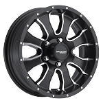 15x5 Raceline Mamba Black Aluminum Trailer Wheel 5x4.50 Bolt, 2150 lb Max Load, incl Center Cap