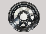 15x6 Chrome Spoke Steel Trailer Wheel 6 on 5.50 1526278402B