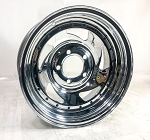 14 x 6 Chrome Blade Trailer Wheel 5 on 4.50 Bolt Pattern by US Wheel