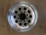 DENTED AND SCRATCHED - 17.5x6.75 Aluminum Modular Trailer Wheel 8 x 6.50 Center Cap & 9/16 in Lug Nuts sold separately.